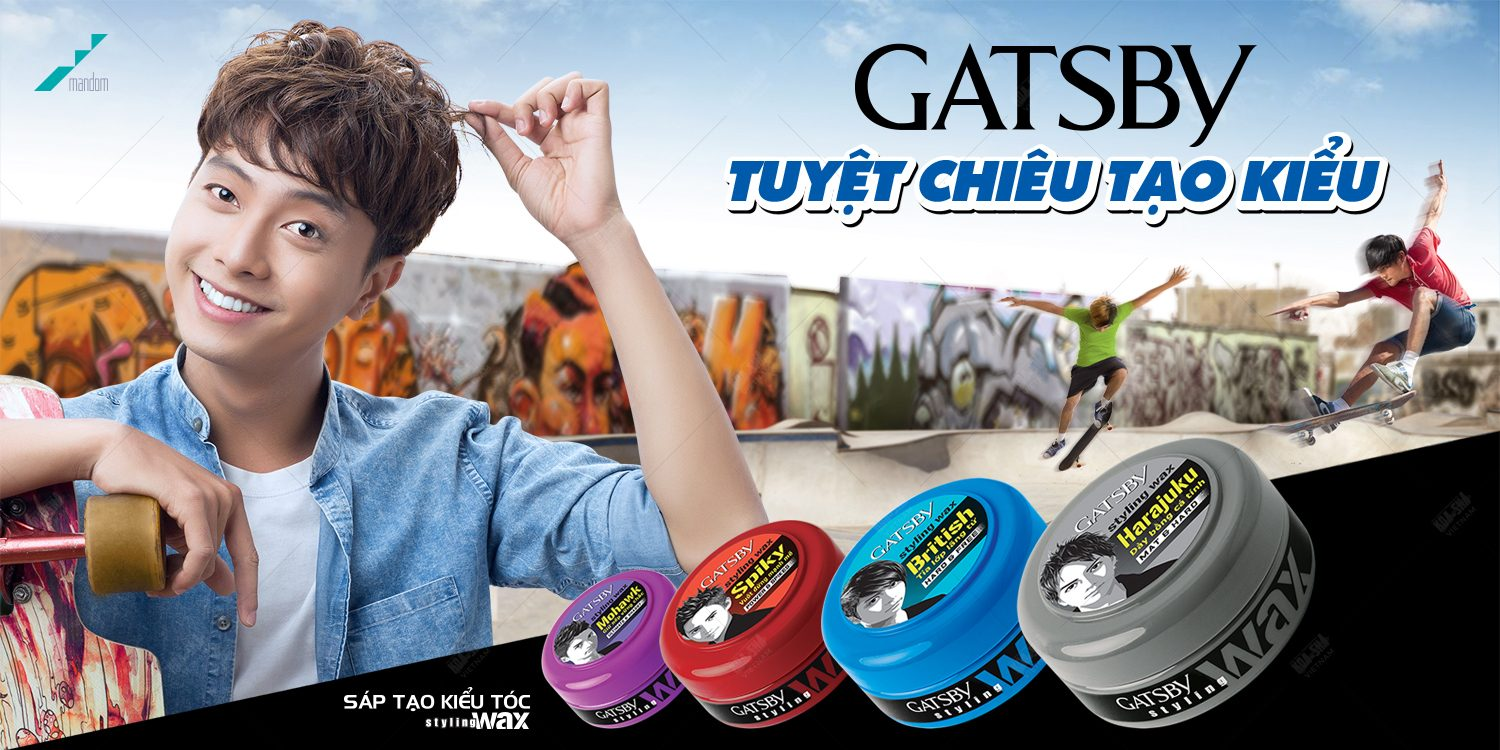 Gatsby hair wax brand refreshing their image with the appearance of brand ambassador for the 1st time in Vietnam