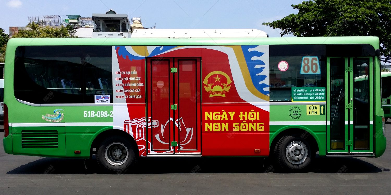 Koa-Sha Vietnam supports for community activity with propaganda bus ad