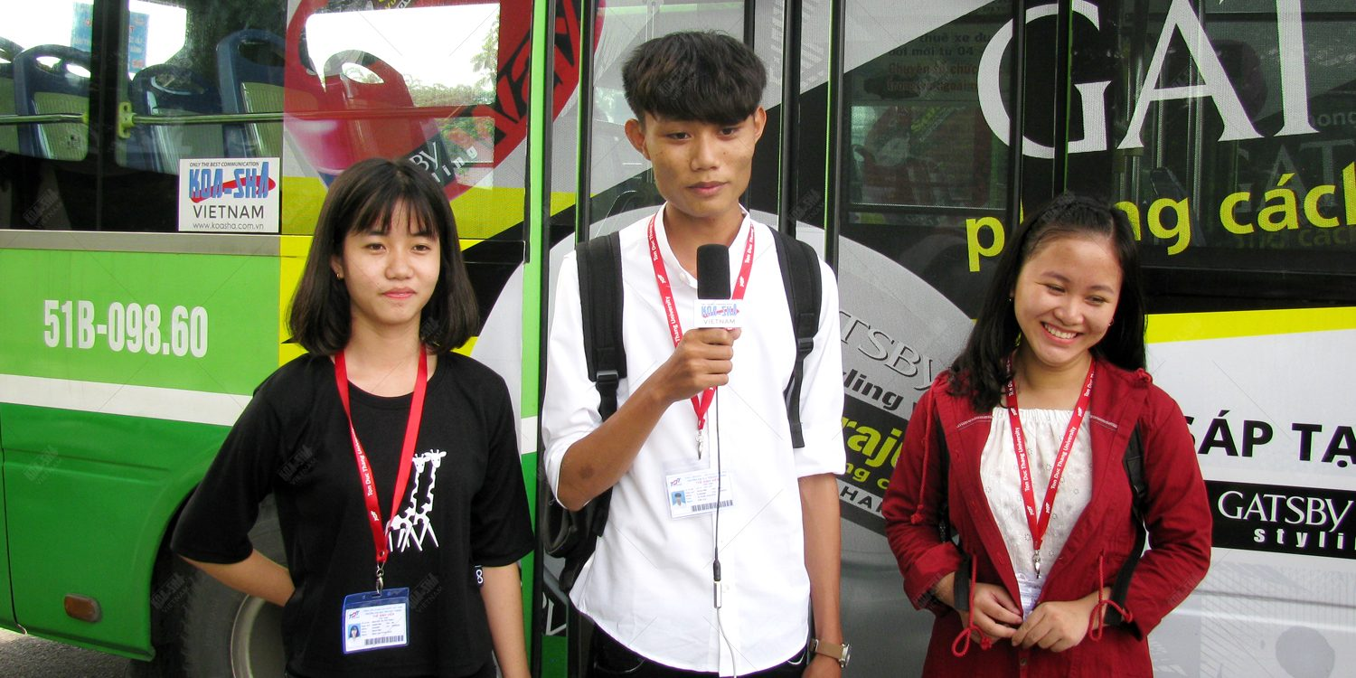Positive social response to Bus Media done by Koa-Sha Vietnam
